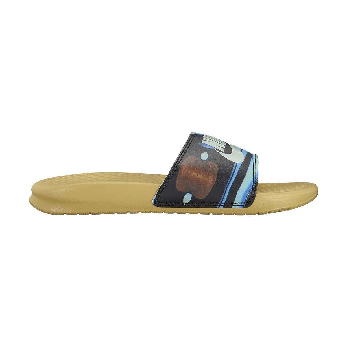 Nike Women's Benassi ''Just Do It.'' Sandal nk618919-700 (Buff Gold/Igloo-buff Gold, 7 B(M) US) by NIKE
