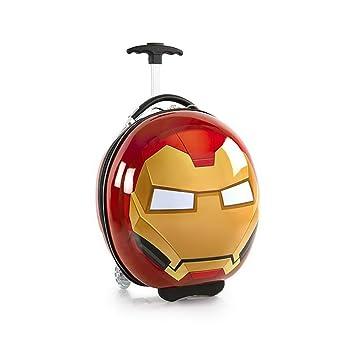 95e6234370c809 Marvel Avengers Circle Shaped 16 Inch Hardside Luggage Suitcase for Kids [Iron  Man]