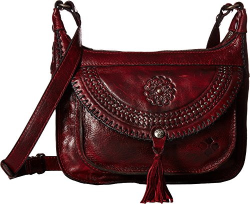 Patricia Nash Women's Camila 2 Zip Square Hobo Crossbody Red One Size (Handbag Hobo Square)