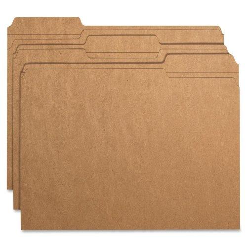 Wholesale CASE of 10 - Smead 1/3 Cut Kraft File Folders-Folder, 11 Point, 2-Ply, 1/3 Ast Tab Cut, Ltr, 100/BXM Kraft ()