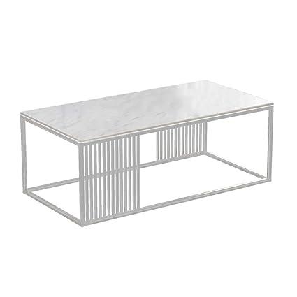 Tavolini Da Salotto Moderni In Ferro.Fx Tavolino Da Salotto In Ferro Marmo In Metallo Moderno