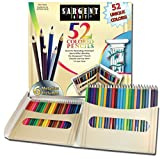 Sargent Art Premium Coloring Pencils, Pack of 52 Assorted Colors and Metallics, 22-7294