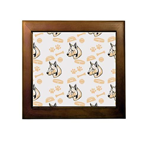 hot sale Canaan Dog Dog Bone Bowl Collar Ceramic Tile Backsplash Accent Mural