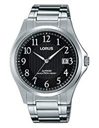 Lorus Men's RS995B Dress Stainless Steel Sapphire Crystal Wrist Watch