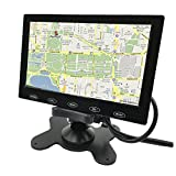 PONPY 9'' Ultra Thin HD 800x480 Color TFT LCD Screen 2 Channel RCA Video Input Car Rear View Headrest Monitor for Car DVD/VCR/STB/Backup Camera/Satellite Receiver