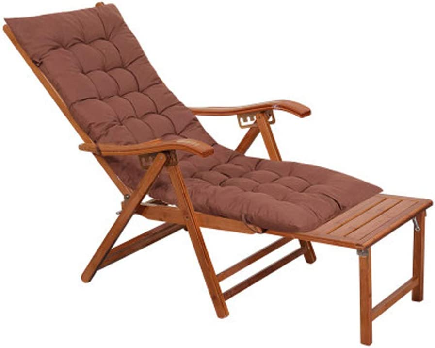 Silla de jardín reclinable Plegable Silla Tumbona con Respaldo al Sol Silla de bambú Respaldo de bambú Sillas de Playa Tumbona reclinable con reposacabezas Reposapiés Ajustable MAX.200kg