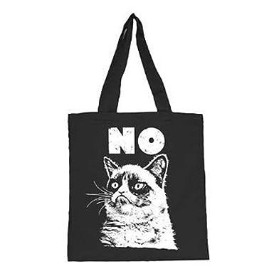 fdd4f2499b0d Grumpy Cat No Black Tote Bag