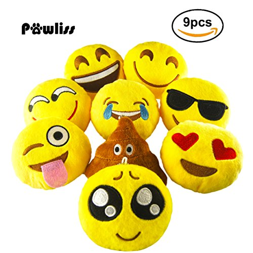 Pawliss Stuffed Emoticon Pillow Cushion