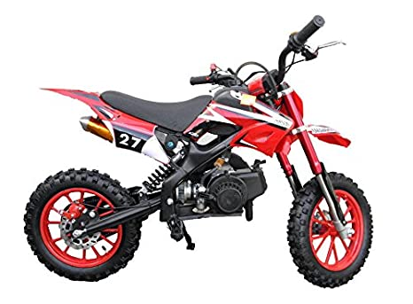 Dirt Bike/Pocket Cross - KXD 701 - 49.9 CC - Ruedas 10 pulgadas - Rojo: Amazon.es: Coche y moto