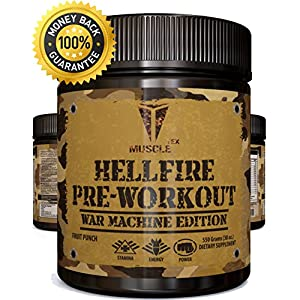 _ANABOLIC__HELLFIRE PRE-WORKOUT POWDER__ * - EXTREME- Pre Workout - Fasting Acting Powder – Pre Workout For Men -AND- Pre Workout For Women! Pre Workout With Creatine - Pre Workout Suppleme
