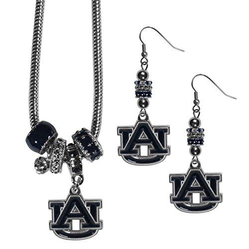 Siskiyou NCAA Auburn Tigers Euro Bead Earrings & Necklace Set ()