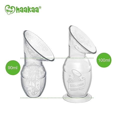 Haakaa Silikon-Milchpumpe mit Blumenstopper 90 ml 100/% lebensmittelechtes Silikon BPA- und Phthalatfrei Orange