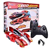 zero gravity remote control car - Wall Climbing Zero Gravity Mini USB Remote Control Racer Vehicle Drive Up Any Smooth Surface Electrical RC Red Driving Car Perfect For Holiday Gift (Instruction Guide Included)