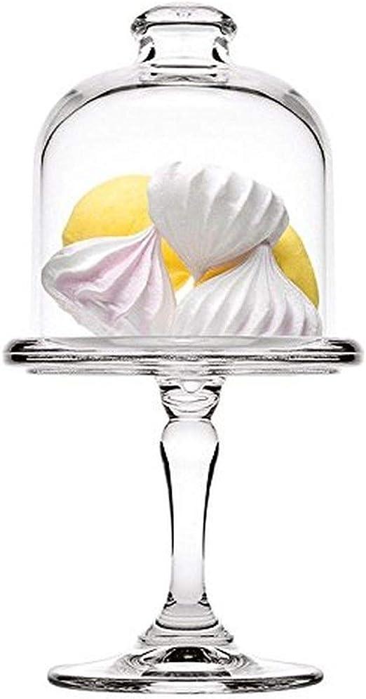 Sweet Home Soporte para Pasteles en Vidrio con Campana de Vidrio cod.AC00410LU cm 19h diam.10 by Varotto /& Co.