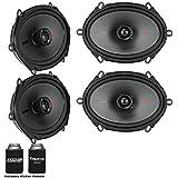 Kicker Speaker Bundle - Two pairs of Kicker 6x8 Inch KS-Series Speakers 44KSC6804