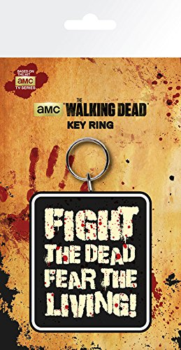 The Walking Dead Fight The Dead Fear The Living Keyring Black KR0102