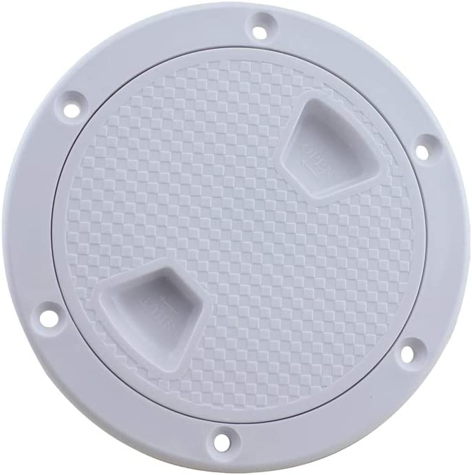JINYII 4-8 Round Non-Slip Deck Inspection Hatch Cover with Removable Cover