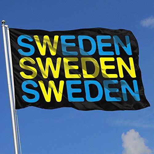 A13UDQ Outdoor Flags Sverige Sweden Swedish Flag 3X5 Ft Flag for Outdoor Indoor Home Decor Sports Fan Football Basketball Baseball Hockey -