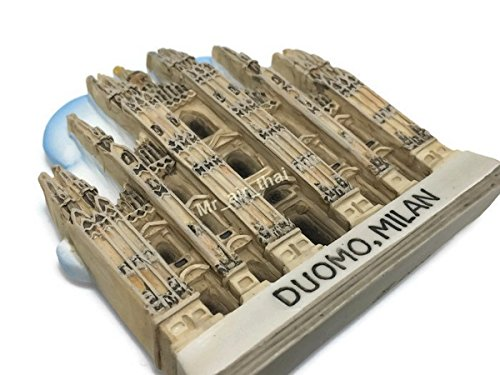 Duomo cathedral Milan Souvenir Collection 3D Fridge Refrigerator Magnet Hand Made Resin