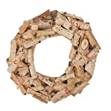 Factory Direct Craft Natural Birch Bark Wood Wreath