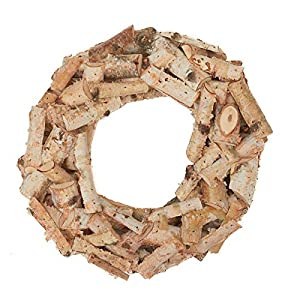 Factory Direct Craft Natural Birch Bark Wood Wreath 120