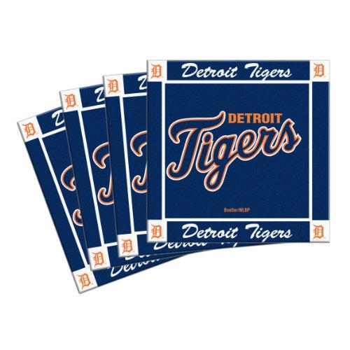- Boelter Brands MLB Detroit Tigers 4-Pack Ceramic Coasters