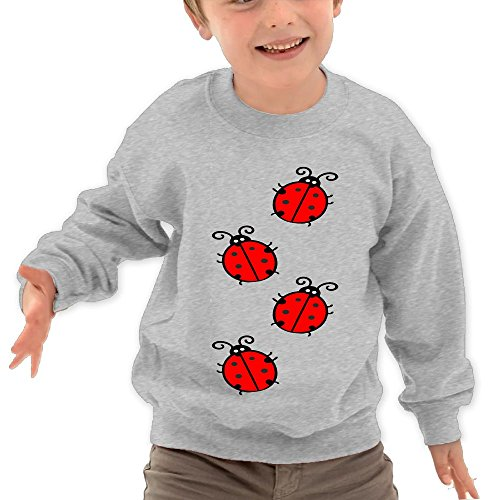 Diosehuts Children's Four Seven-Star Ladybugs Kids Comfortable Hooded Hoodies Sweatshirt -