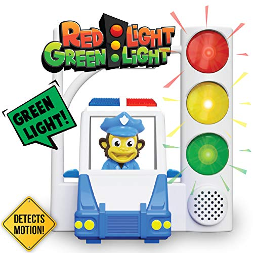 Red Light Green Light With Motion Sensing - Get Kids Active With 3 Different Kids Games, For Kids Ages 4-8 or a Toddler Game (Lights Red Floor)