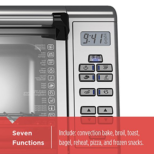 BLACK+DECKER TO3290XSD TO3290XSBD Toaster Oven, 8-Slice, Stainless Steel by BLACK+DECKER (Image #1)