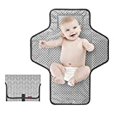 Best Diaper Changing Pad Portables - Portable Baby Changing Pad,Waterproof Diaper Changing Pad,Built-in Ba Review