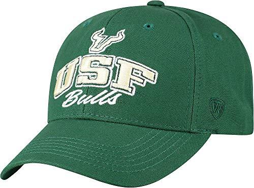 (Top of the World USF Bulls Mens Advisor Hat One Size Dark Green)