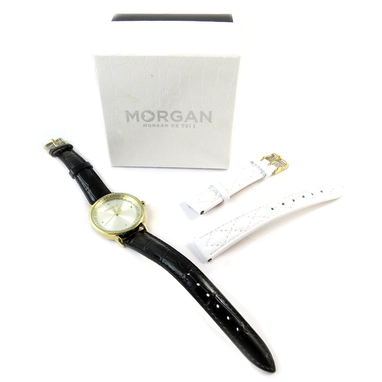 Box-shows + armband 'Morgan'weiß schwarz golden.