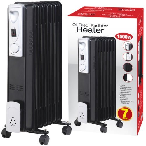 1500w 7 fin portable radiateur huile radiateur lectrique. Black Bedroom Furniture Sets. Home Design Ideas