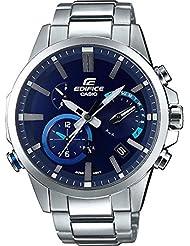 Casio Mens EQB-700D-2A Edifice Bluetooth  Solar Powered Alarm Watch