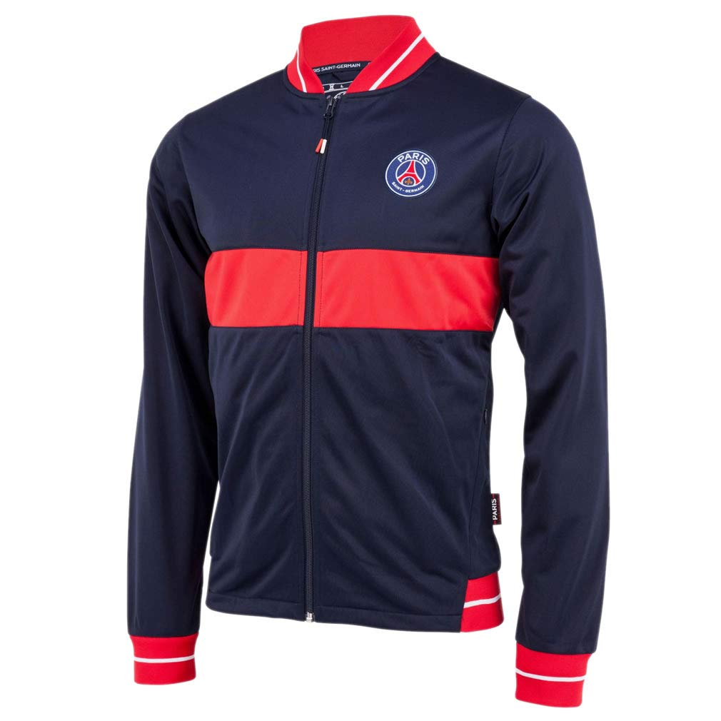 PSG - Official Paris Saint-Germain Kids Sports Jacket - Blue, Red (4 Years)