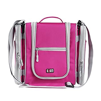 74519a60efb3 Amazon.com   Premium Hanging Toiletry Bag Travel Toiletries Organizer Bag - Travel  Makeup Cosmetic Organizer Bag Toiletry Kit for Men Women - Sexy Pink   ...