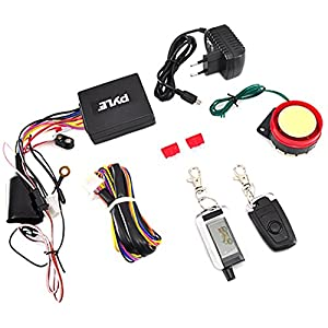 Pyle Upgraded WatchDog Motorcycle Alarm – Anti Theft Security System – Auto Re-Arm Remote Auto Start ECU Transmitter High Power Speaker – PLMCWD75
