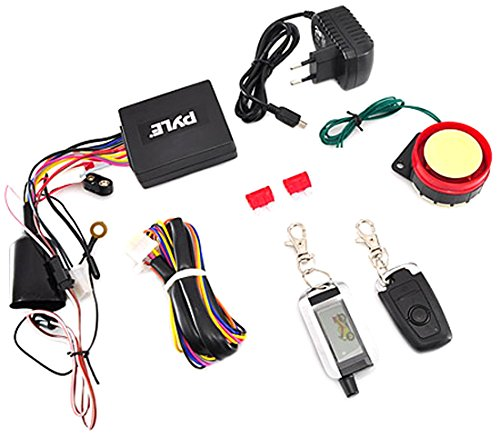 Pyle Upgraded WatchDog Motorcycle Alarm - Anti Theft Security System - Auto Re-Arm Remote Auto Start ECU Transmitter High Power Speaker - PLMCWD75 - Pyle Remote Start System