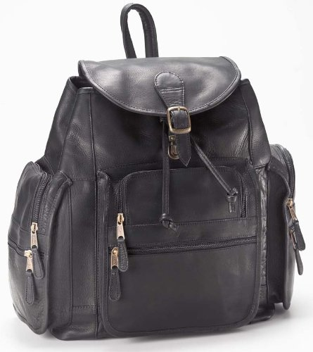 (Vachetta Extra Large Backpack in Black Customize: Yes)