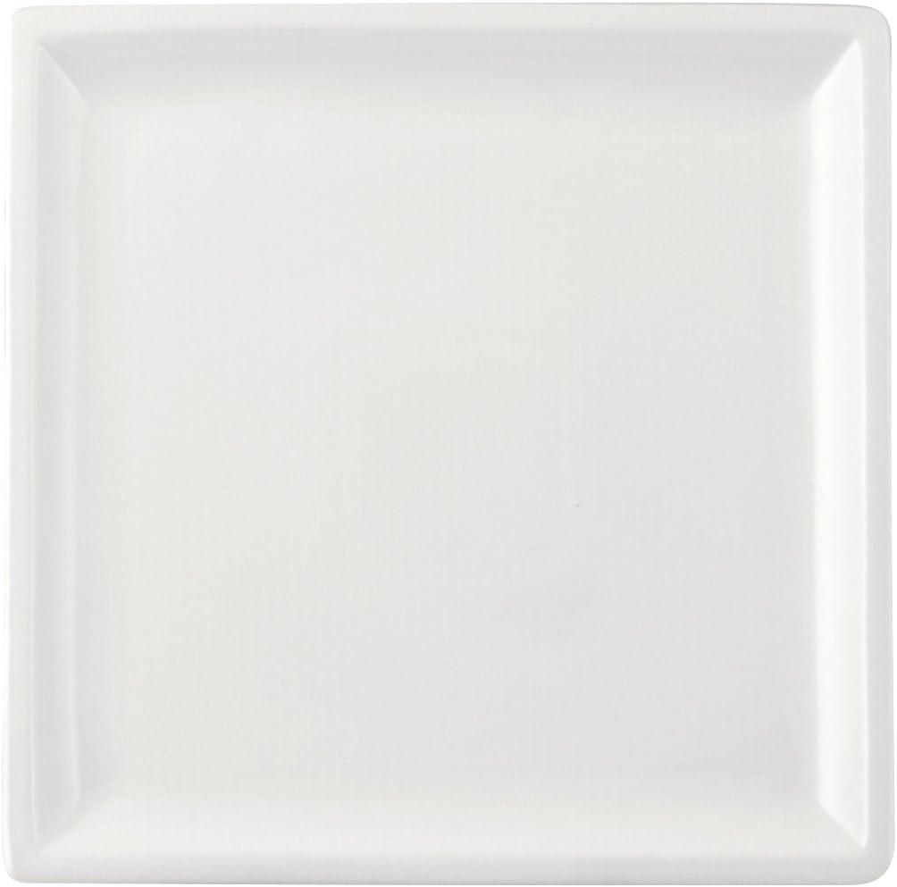 Porcellana 25x25x2 cm 25.5 cm H/&H 7225 Piatto Quadro Bianco