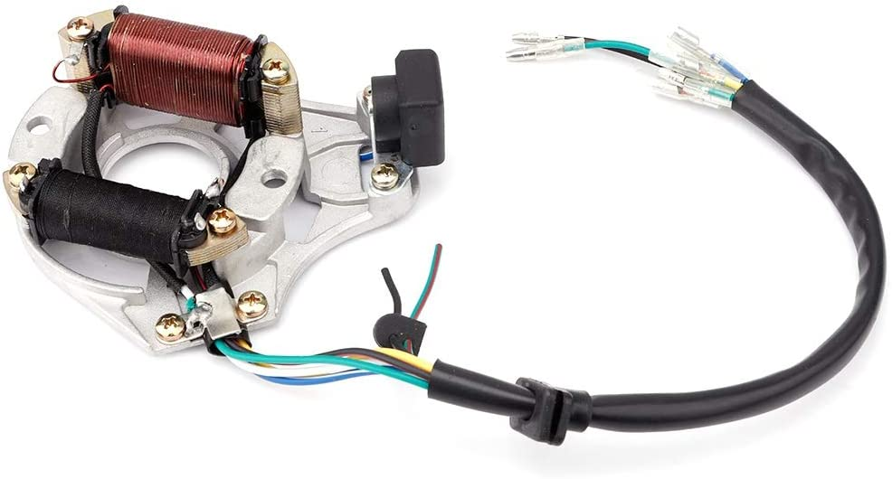 Yctze Motorcycle Ignition,Motorcycle CDI Ignition Stator Magneto Plate for 50cc 70cc 90cc 110cc Dirt Bike Motorbike