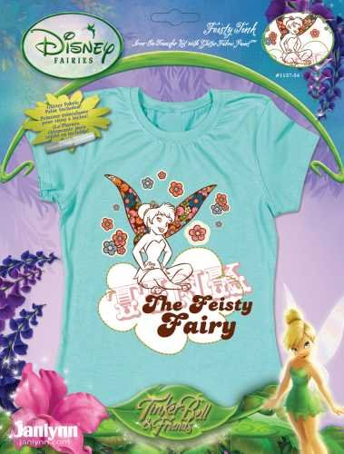 Janlynn Tinkerbell Iron-On Transfer - Feisty (Fairy Iron)