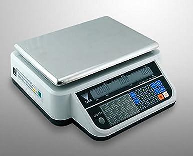 Báscula electrónica ds-781 - Transmisión a batería utilizando 4 pilas tamaño C o toma de corriente de 220 V.: Amazon.es: Industria, empresas y ciencia