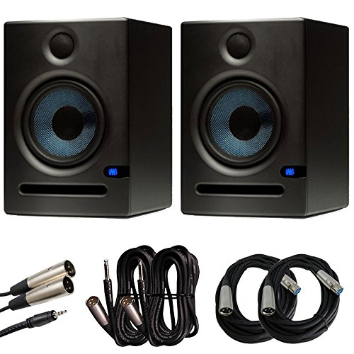 PreSonus Eris E5 Monitors (Pair) with Cables for Mixers, Interfaces, and Laptops Budle by PreSonus   B00NASJUN2