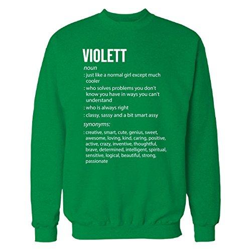 Violett Name Meaning Xmas Birthday Gift - Sweatshirt Irish_Green 3XL