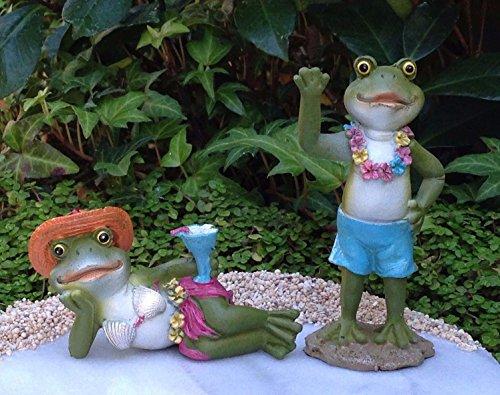 Miniature Dollhouse Fairy Garden Sea Island Beach Frogs Frog (Couple Miniature)
