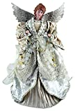 "Santa's Workshop 3035 Gilded Angel Treetopper, 16"", Multi"