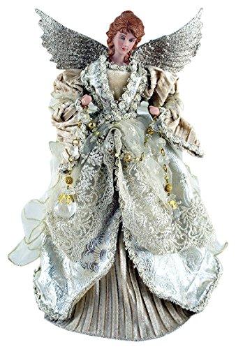 "Santa's Workshop 3035 Gilded Angel Treetopper, 16"", Multi"