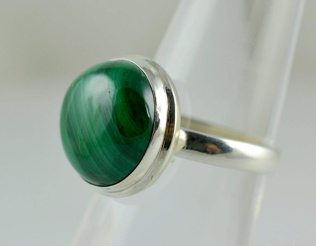 925 Solid Sterling Silver chic jewelry Natural Malachite Ring handmade silver ring available in all US Ring sizes Statement ring