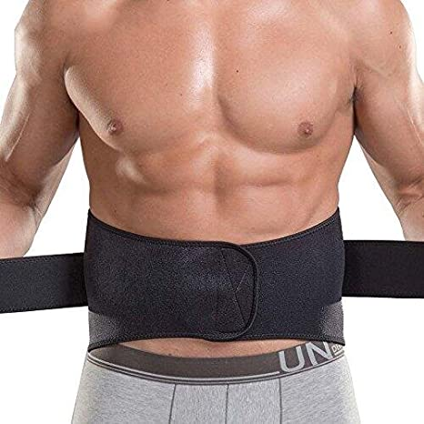 166c9d9fb74 Amazon.com   MAIMAI-Waist Trimmer Ab Belt- Weight Loss- Abdominal Muscle   Back  Supporter-for Lower Back Pain Relief Exercise - Black   Sports   Outdoors